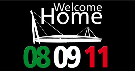 welcome home juventus